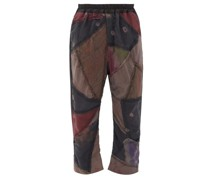 Gerald Patchwork Silk And Wool-blend Trousers