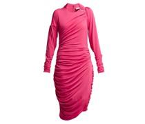 Alexandra Crinkled-georgette Ruched Midi Dress