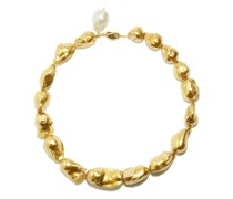 Baroque Pearl & 24kt Gold-plated Choker