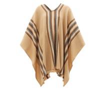 Brita Striped Wool-blend Poncho