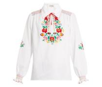 Dora Embroidered Cotton Shirt
