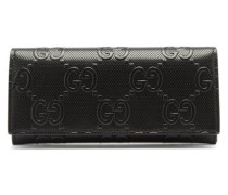 Gg-logo Embossed-leather Wallet