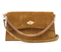 Roma Small Suede Shoulder Bag
