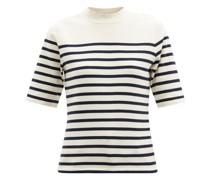 Striped Organic-cotton T-shirt