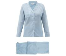 Ledbury 40 Geometric-print Cotton-batiste Pyjamas