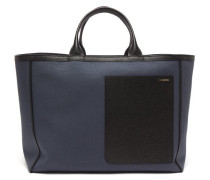 Shopping Canvas And Leather Tote Bag