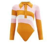 Hera Striped Jersey Bodysuit
