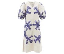 Henrietta Quilted Cotton-blend Midi Dress