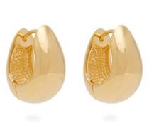 Hinged 18kt Gold-vermeil Hoop Earrings