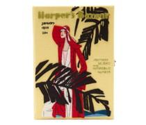 Harper's Bazaar Appliqué Canvas Book Clutch