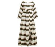 Tiered Striped Voile Maxi Dress