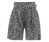 The Talia Zebra-print Cotton-blend Wide-leg Shorts