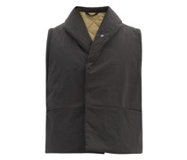 Wrap Shawl-collar Padded Cotton-blend Gilet