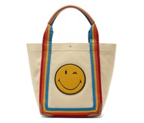 Pont Small Stripe-trimmed Canvas Tote Bag
