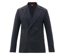 Siroco Elga Wool-blend Sharkskin Suit Jacket