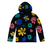 Sound Flowers-intarsia Cashmere Hooded Sweater