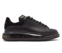 Exaggerated Sole Speckled-leather Trainers