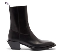 Luciano Leather Western Boots
