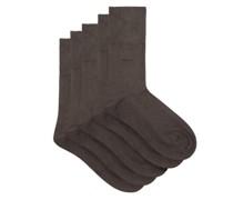 Pack Of 5 Bamboo-blend Jersey Socks