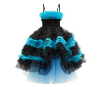 Lina Frilled Hand-smocked Tulle Gown