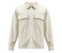 Patchwork Cotton-twill Overshirt