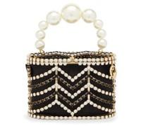Holli Chevron Crystal-embellished Caged Bag