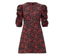 Floral Sweetheartl-print Crepe Mini Dress