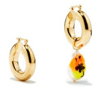 Sunset Drive Mismatched 14kt Gold-plated Earrings