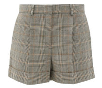 Prince Of Wales-checked Wool Shorts