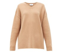 Dip-hem Knitted Cashmere Sweater