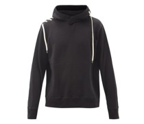 Drawstring-panel Cotton-jersey Hooded Sweatshirt