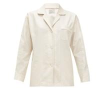 Paisley-jacquard Cotton Pyjama Shirt