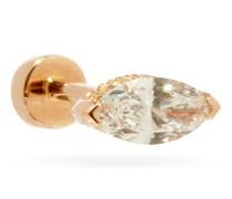 Diamond & 18kt Rose-gold Single Earring