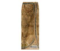 Crystal-embellished Leopard-print Sarong
