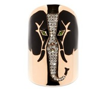 Elephant Diamond & 18kt Rose-gold Ring