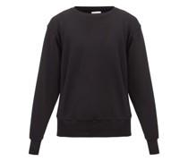 Brushed-back Cotton Sweatshirt