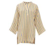 Belinda Striped Cotton-blend Seersucker Kaftan