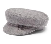 Felted Wool-blend Baker Boy Cap