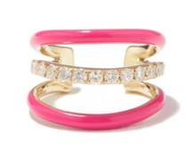 Diamond, Enamel & 9kt Gold Ear Cuff