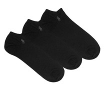 Pack Of Three Ghost Cotton-blend Ankle Socks