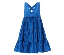 Babe Tiered Cotton-poplin Midi Dress