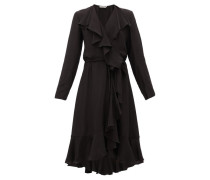 Exauce Ruffled Waterfall-hem Silk Dress