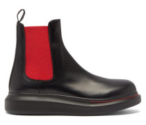 Hybrid Exaggerated-sole Leather Chelsea Boots