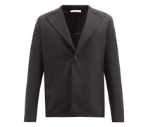 Power Single-breasted Twill Jacket