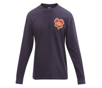 Felted Logo-patch Cotton-jersey T-shirt