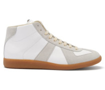 Replica High-top Leather And Suede Trainers