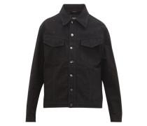 Ff-embroidered Denim Jacket