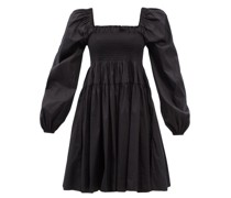 Finola Shirred Cotton-blend Poplin Dress