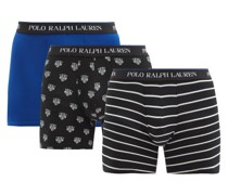 Pack Of Three Cotton-blend Boxer Briefs