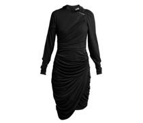Alex Crinkled-georgette Ruched Midi Dress